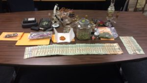 Seized narcotics and U.S. currency